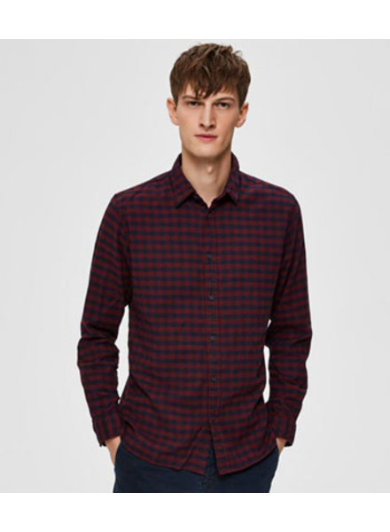 SELECTED HOMMES SLHSLIMSEAMUS-CAMP SHIRT LS MI