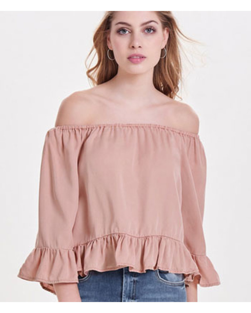 ONLY onlSECO COLOR SHOULDER DNM TOP