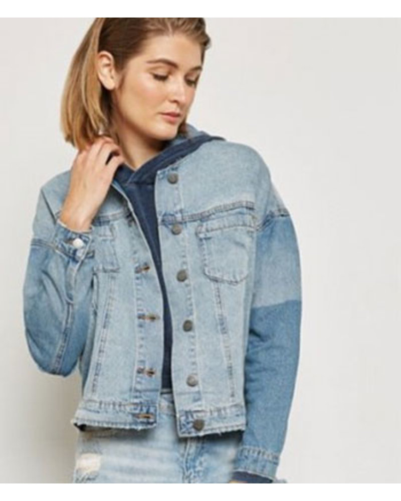NOISY MAY NMDASH LS BACK PRINT DENIM JACKET