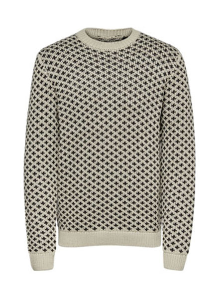 ONLY & SONS ONSHENRI LIFE CREW NECK KNIT SL 6907