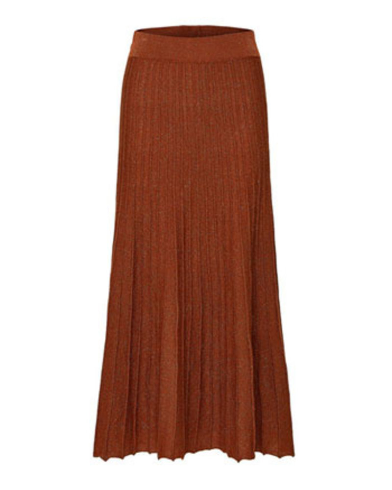 SELECTED FEMMES SLFZAMBA MIDI LUREX KNIT SKIRT