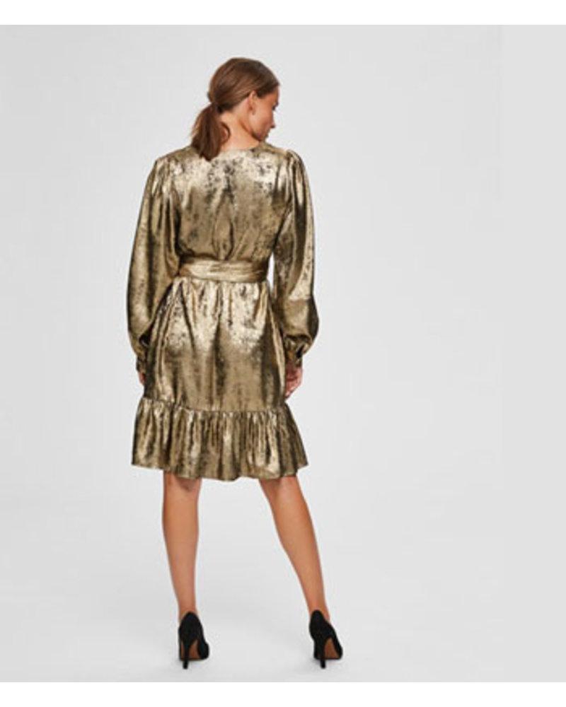 SELECTED FEMMES SLFAURELIA LS SHORT DRESS B