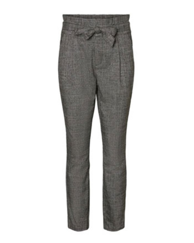 VERO MODA VMEVA HR LOOSE PAPERBAG AMY PANT NOOS Checks:HOUNDSTOOTH GREY/ WHITE