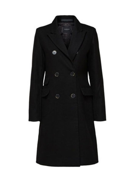 SELECTED FEMMES SLFBINA WOOL COAT B CAMP