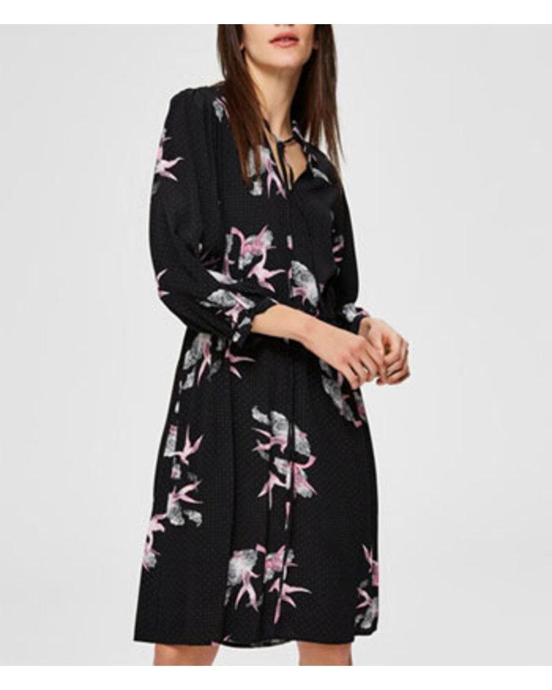 SELECTED FEMMES SLFALLISON-DAMINA 3/4 AOP SHORT DRESS B