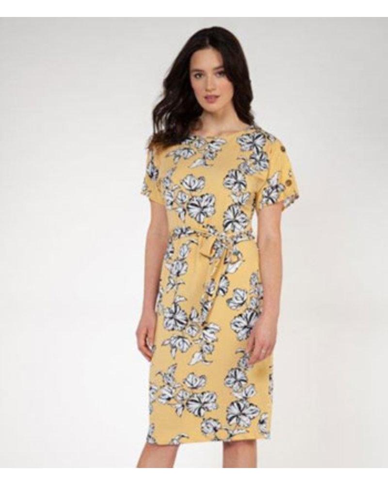 DEX S/S SELF TIE SHIFT DRESS