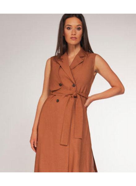 DEX SLV/LESS TRENCH DRESS