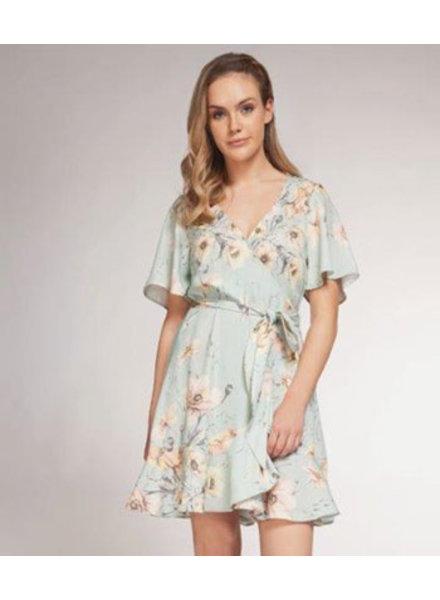 DEX S/SLV WRAP DRESS