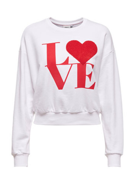 ONLY ONLLOVE LIFE L/S O-NECK SWT Print:HEART