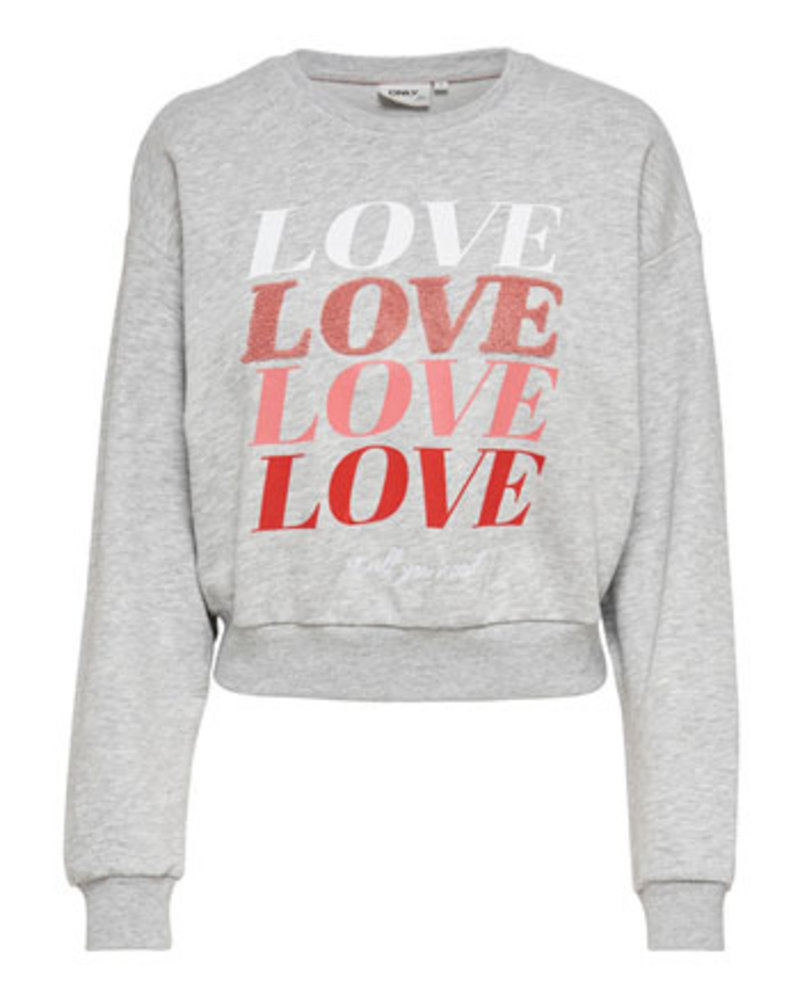 ONLY ONLLOVE LIFE L/S O-NECK SWT Print:NEED