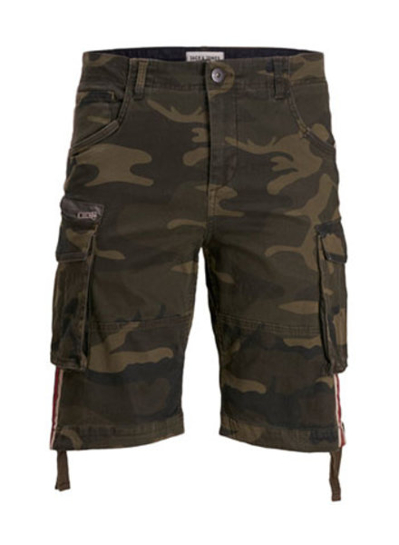 JACK & JONES JJICHOP JJCARGO SHORTS AKM 429 STRIPE Detail:CAMO