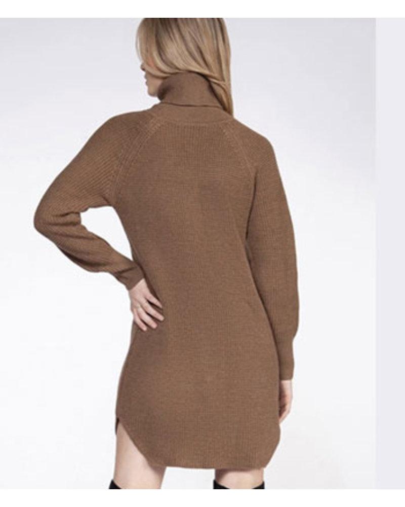 DEX TURTLENECK SWEATER DRESS