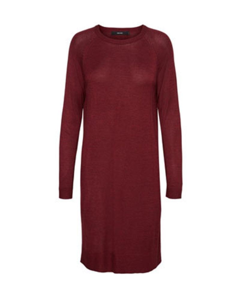 VERO MODA VMMEGHAN LS O-NECK DRESS GA BOO Detail:W. RUMBA RED MELANGE