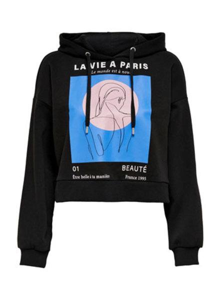 ONLY ONLSANNY LIFE L/S HOOD SWT AOP:PARIS