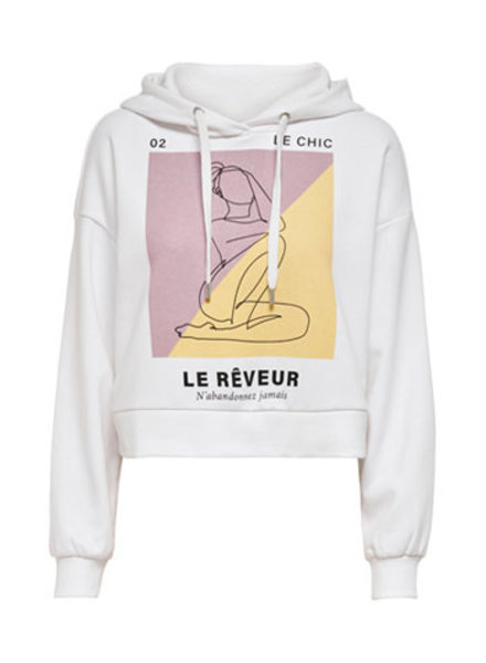 ONLY ONLSANNY LIFE L/S HOOD SWT AOP:CHIC