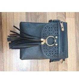 Ivys Black Crossover/Shoulder Bag
