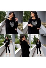 Willow Tree Heart Print Knit Top