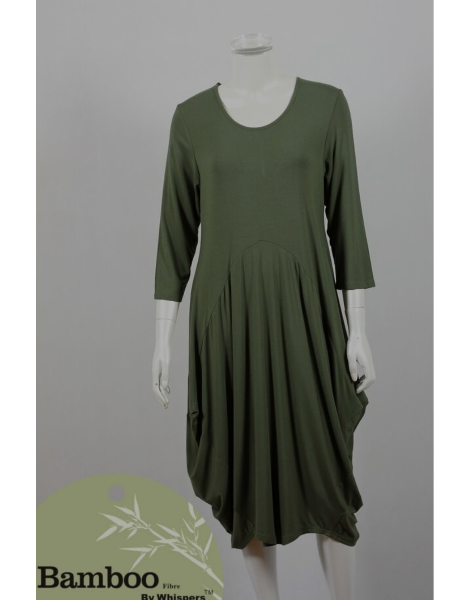 Bamboo By Whispers Bamboo 3/4 Sl Dress
