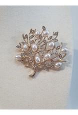 Little Secrets Diamond/ Pearl Gold Tree Brooch