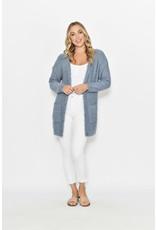 New U Collection Soft Fluffy Blue Cardigan