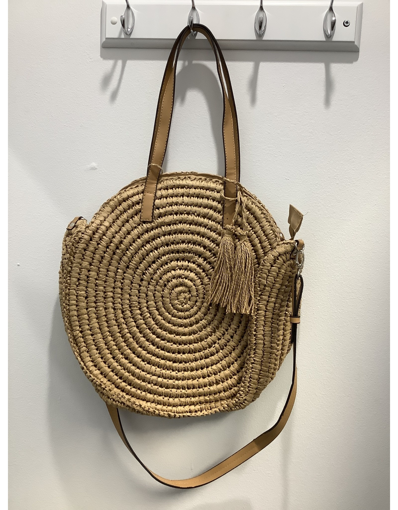 Isabella Boho Circle Woven Bag PV Straps