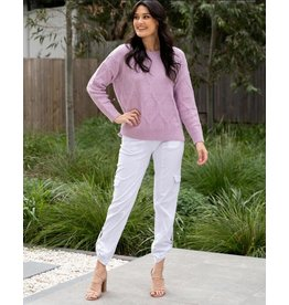 Willow Tree Wool Blend Diamond Cable Knit Jumper