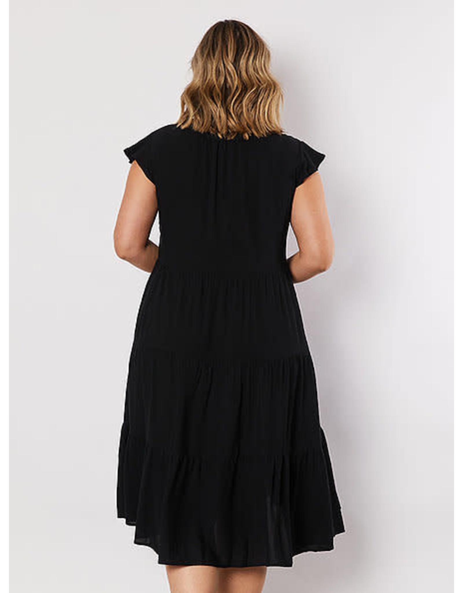 Threadz Black Tiered Dress