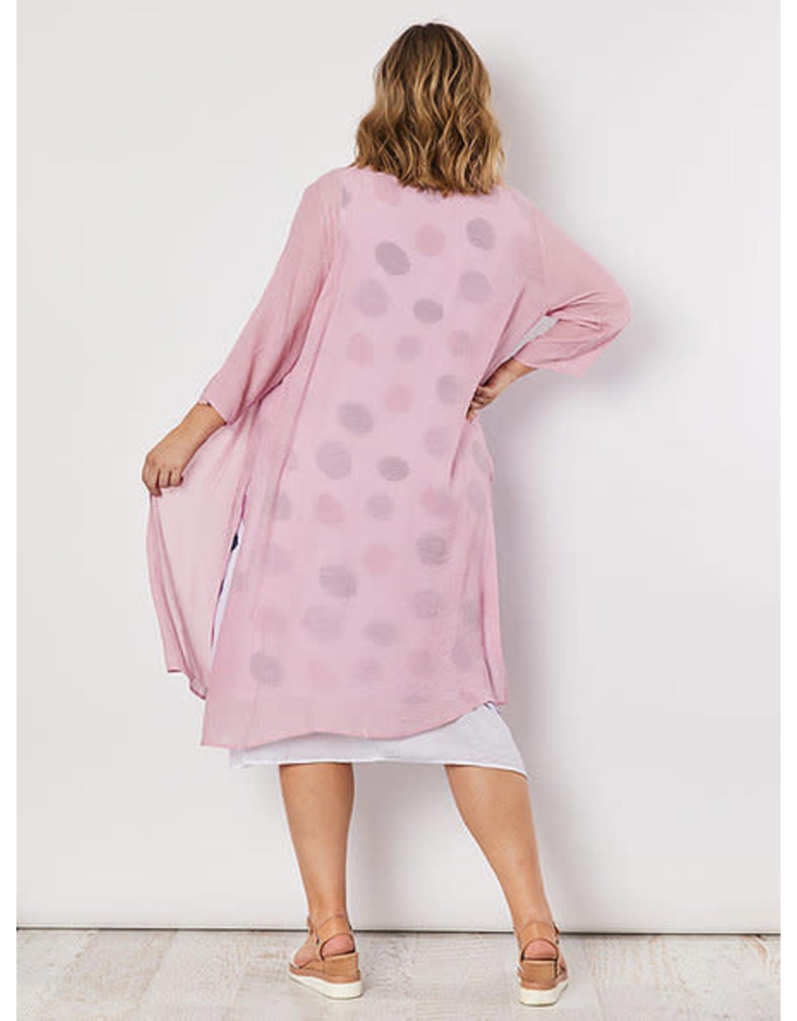 Clarity Pink Long Cardi
