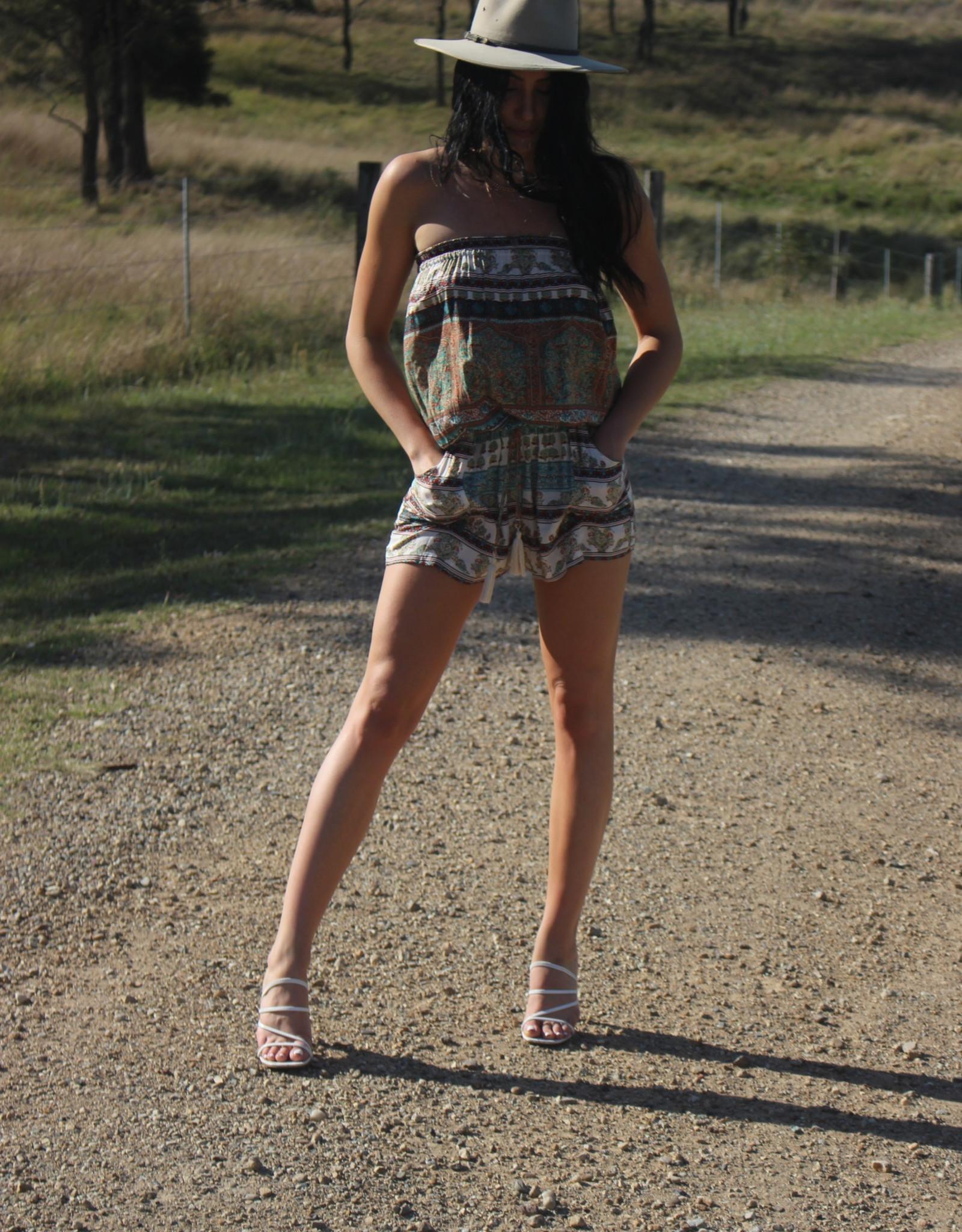 Savarna Tribe Short Playsuit