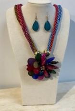 Flower necklace/earrings
