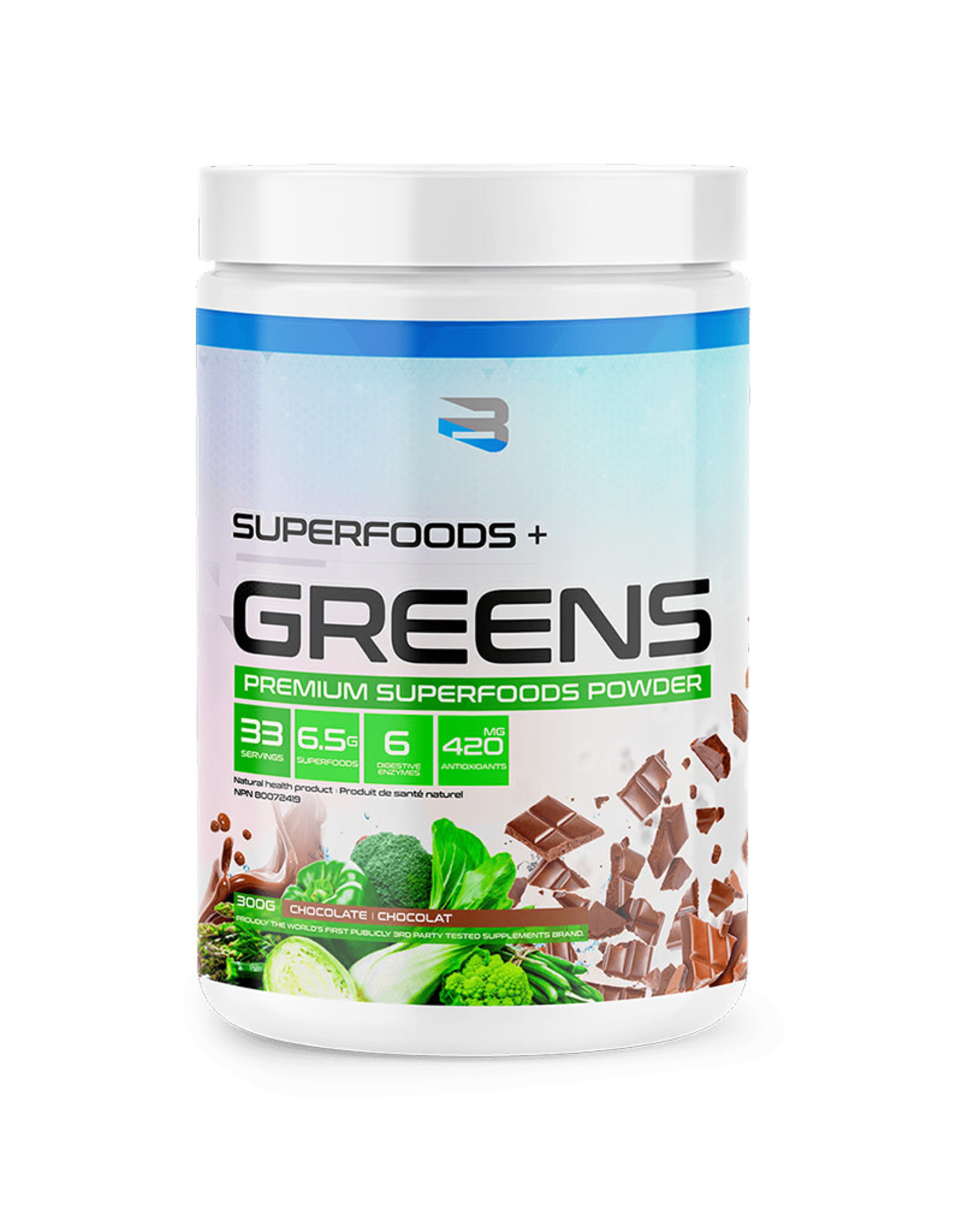 Believe Believe - Superfoods + Greens, Chocolate (300g)