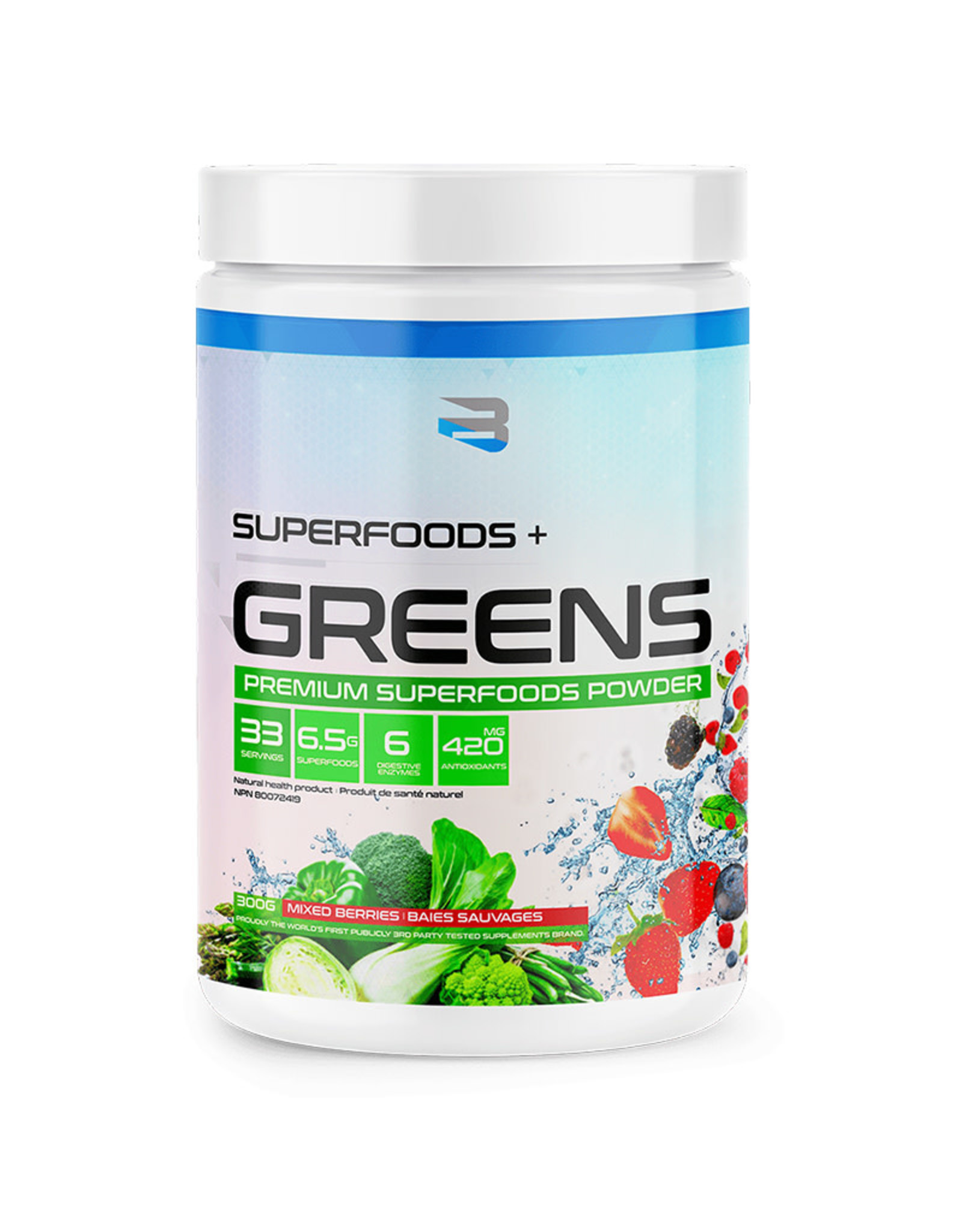 Believe Believe - Superfoods + Greens, Mixed Berries (300g)