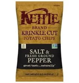 Kettle Brand Kettle Brand - Potato Chips, Krinkle Salt & Pepper (220g)