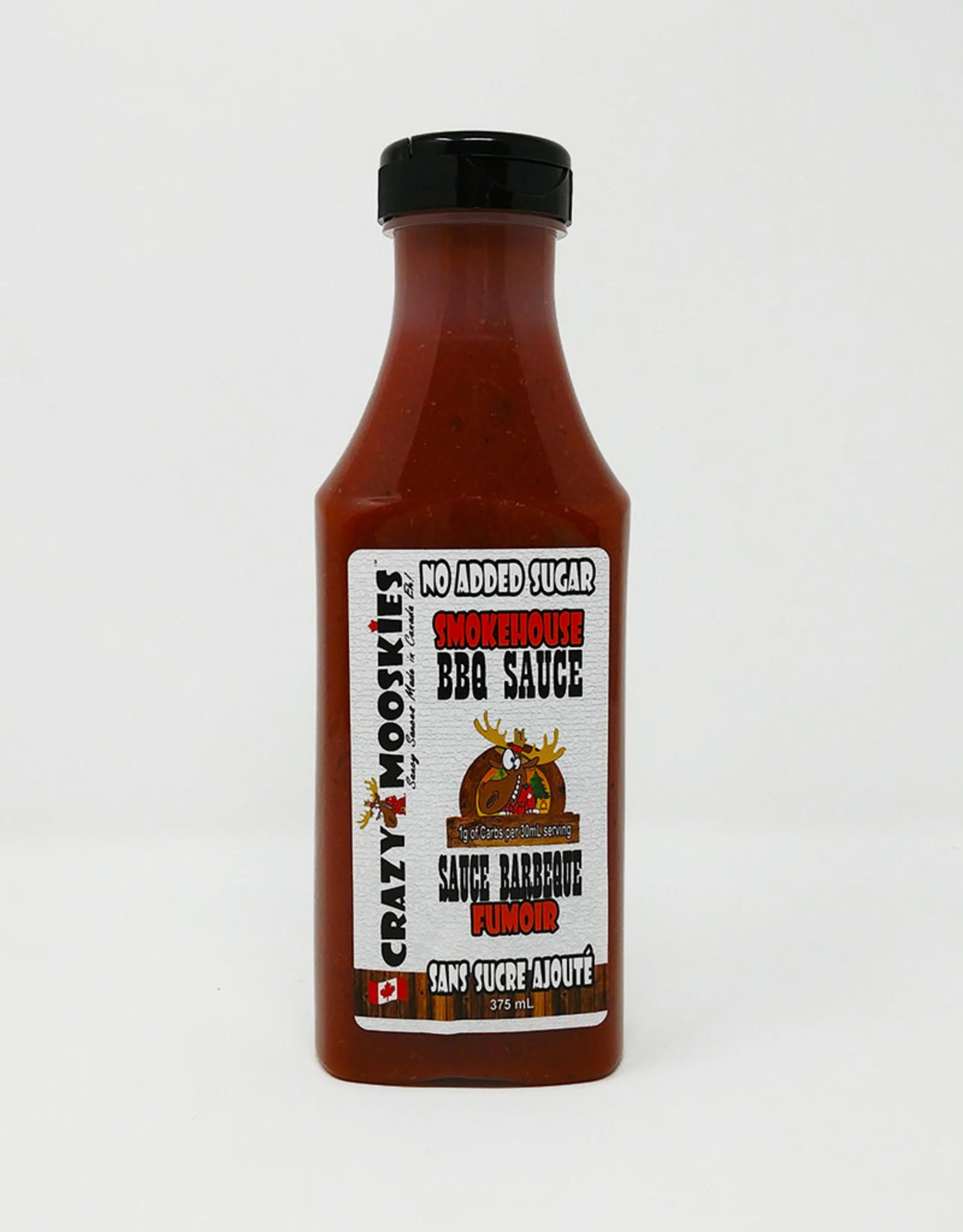 Crazy Mooskies Crazy Mooskies - No Sugar Added BBQ Sauce, Smokehouse (375ml)