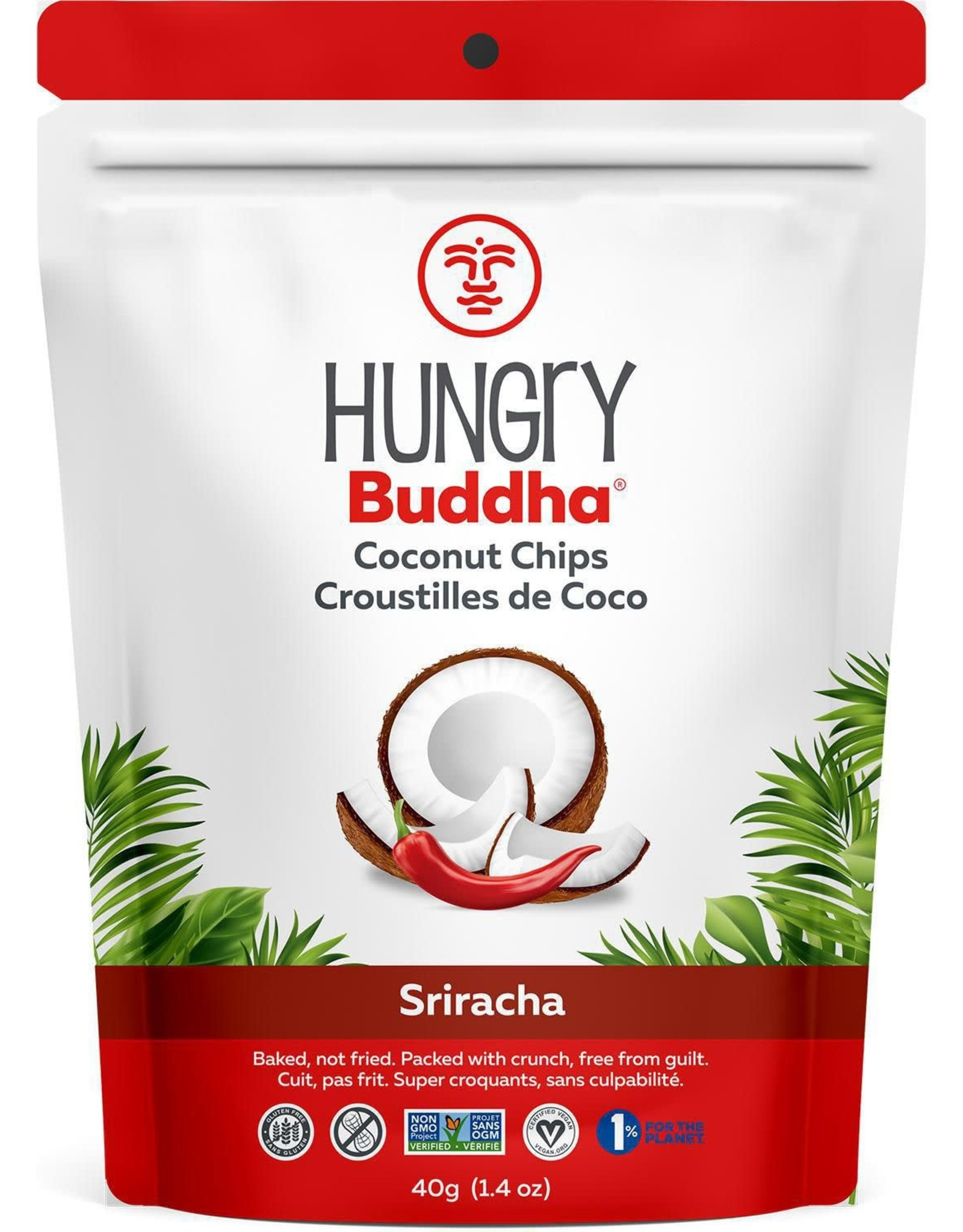 Hungry Buddha Hungry Buddha - Coconut Chips, Smokin Sriracha (40g)