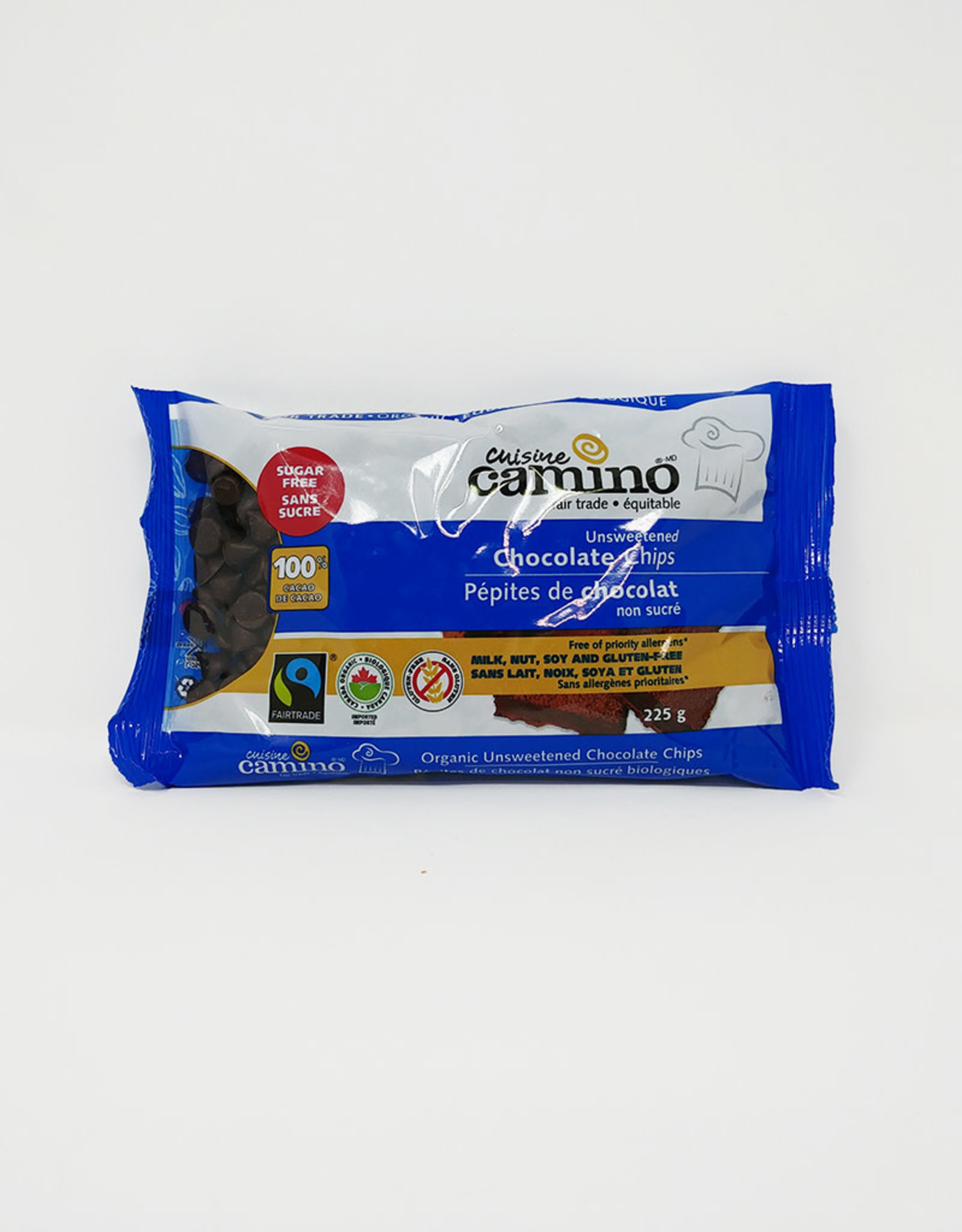 Camino Camino - Unsweetened Chocolate Chips (225g)