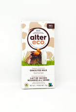 Alter Eco Alter Eco - Grass Fed Milk Chocolate Bar, Salted Almonds