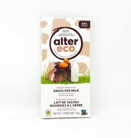 Alter Eco Alter Eco - Grass Fed Milk Chocolate Bar, Salted Almonds