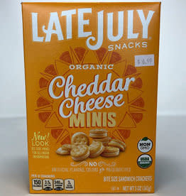 Late July Late July - Crackers, Mini Cheddar Cheese (140g)