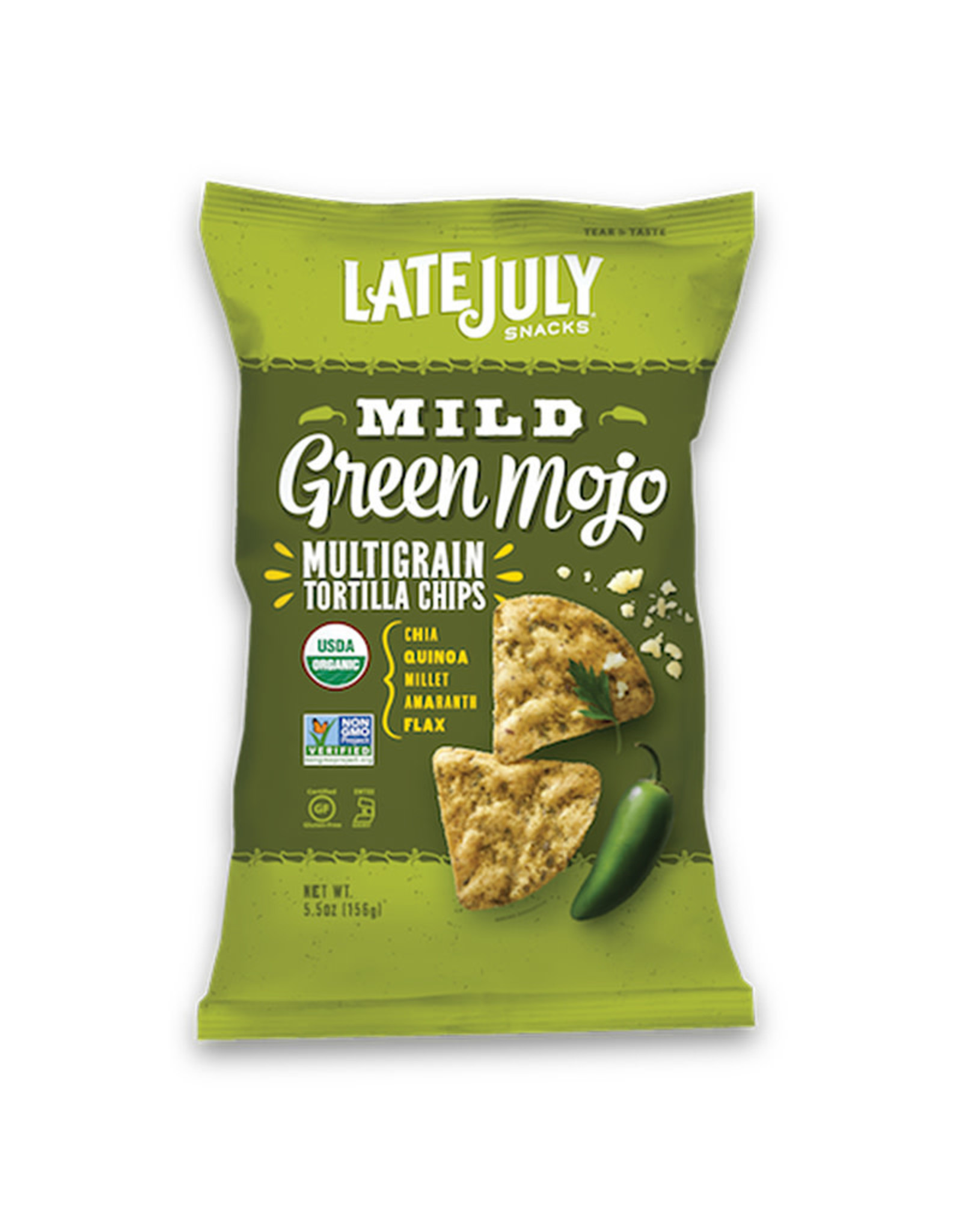 Late July Late July - Multigrain Snack Chips, Mild Green Mojo (156g)