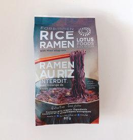 Lotus Foods Lotus Foods - Rice Ramen with Miso Soup, Forbidden Black Rice (80g)