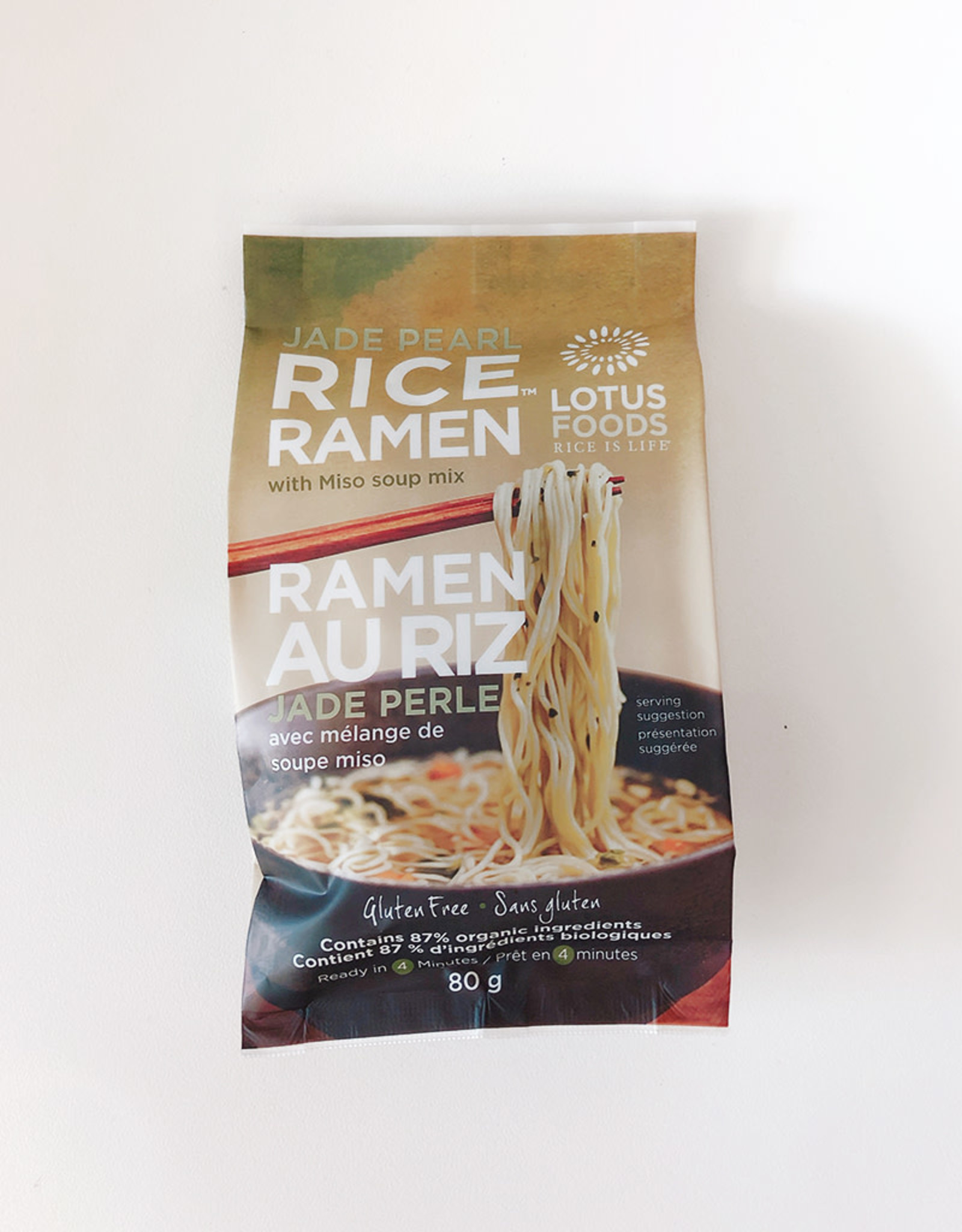 Lotus Foods Lotus Foods - Rice Ramen with Miso Soup, Jade Pearl Rice (80g)