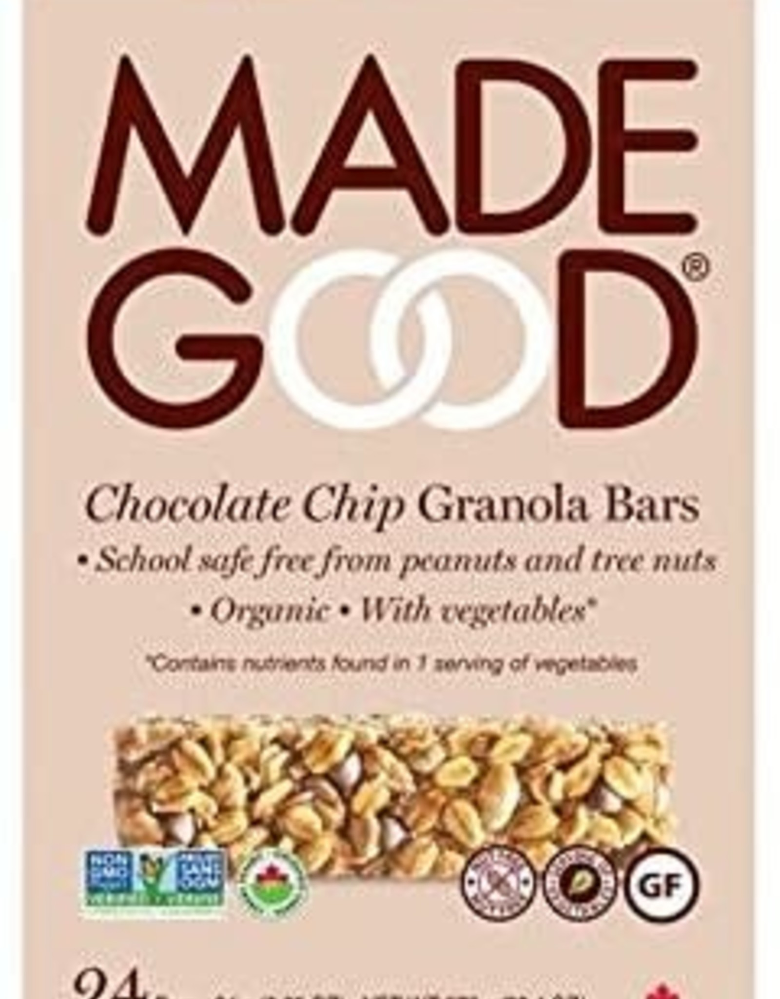 Made Good Made Good - Granola Bar, Chocolate Chip (5x24g)