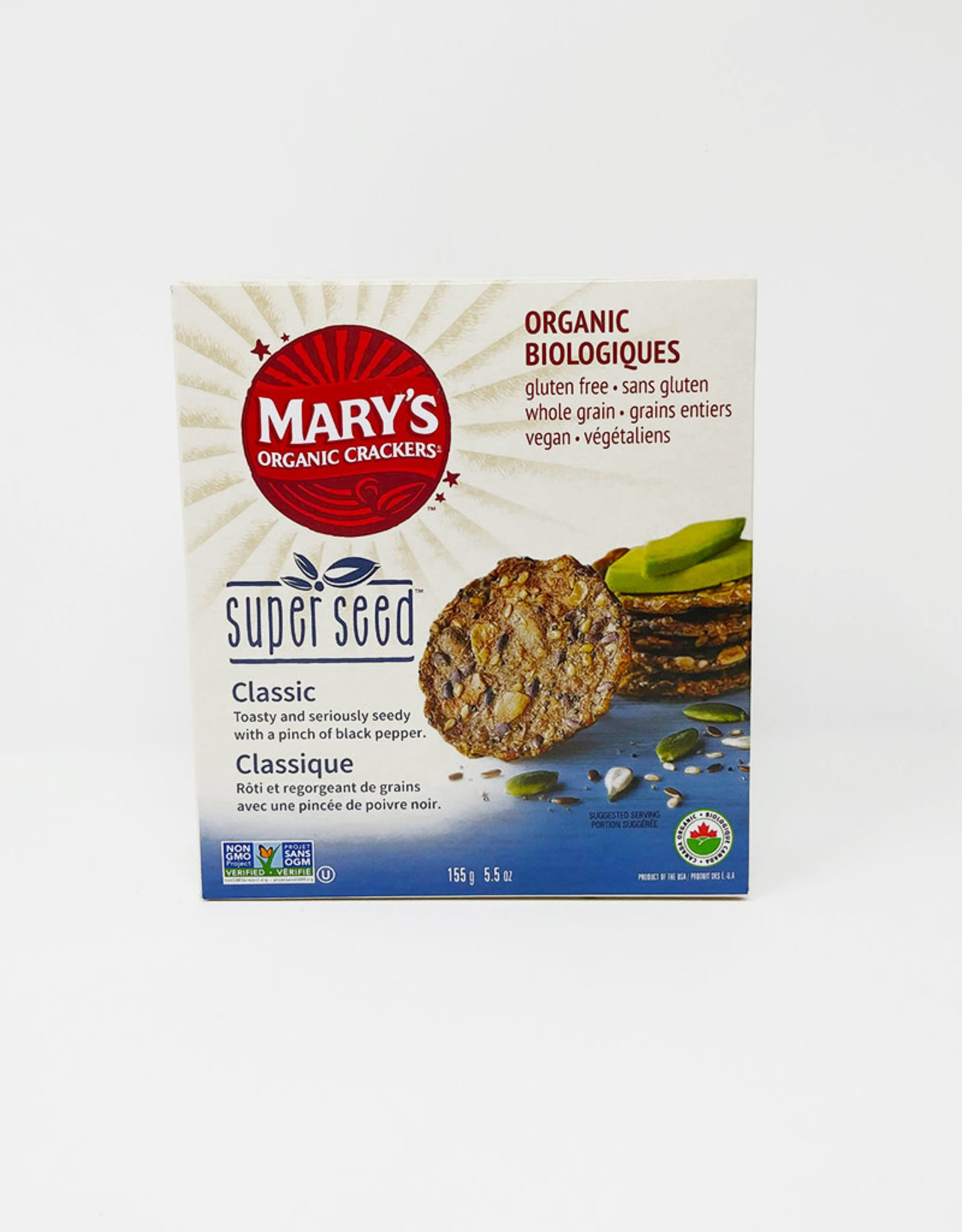 Marys Organic Crackers Marys Organic Crackers - Super Seed, Classic