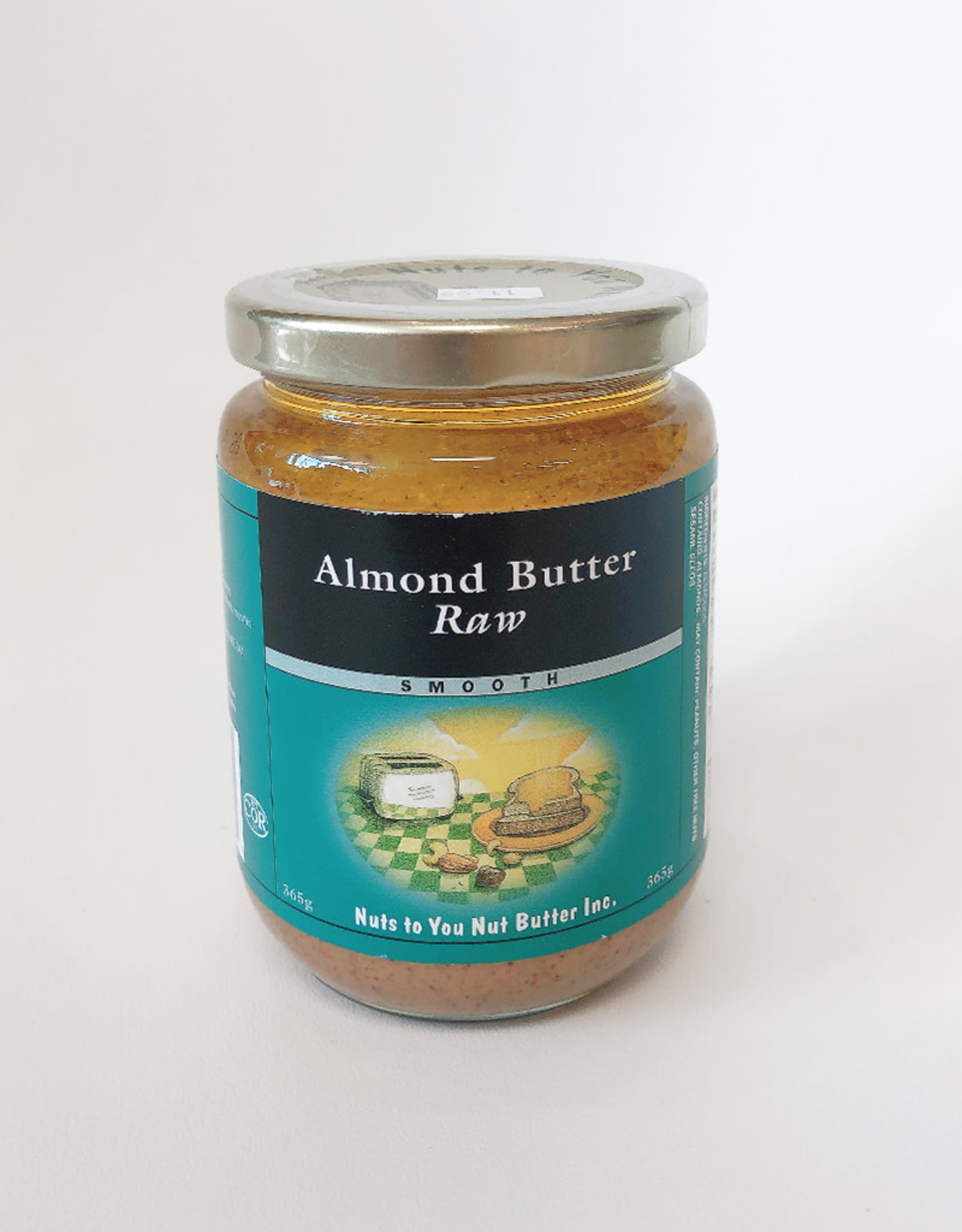 Nuts to You NTY - Organic Almond Butter, Raw Smooth (365g)