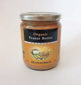 Nuts to You NTY - Organic Peanut Butter, Crunchy (500g)