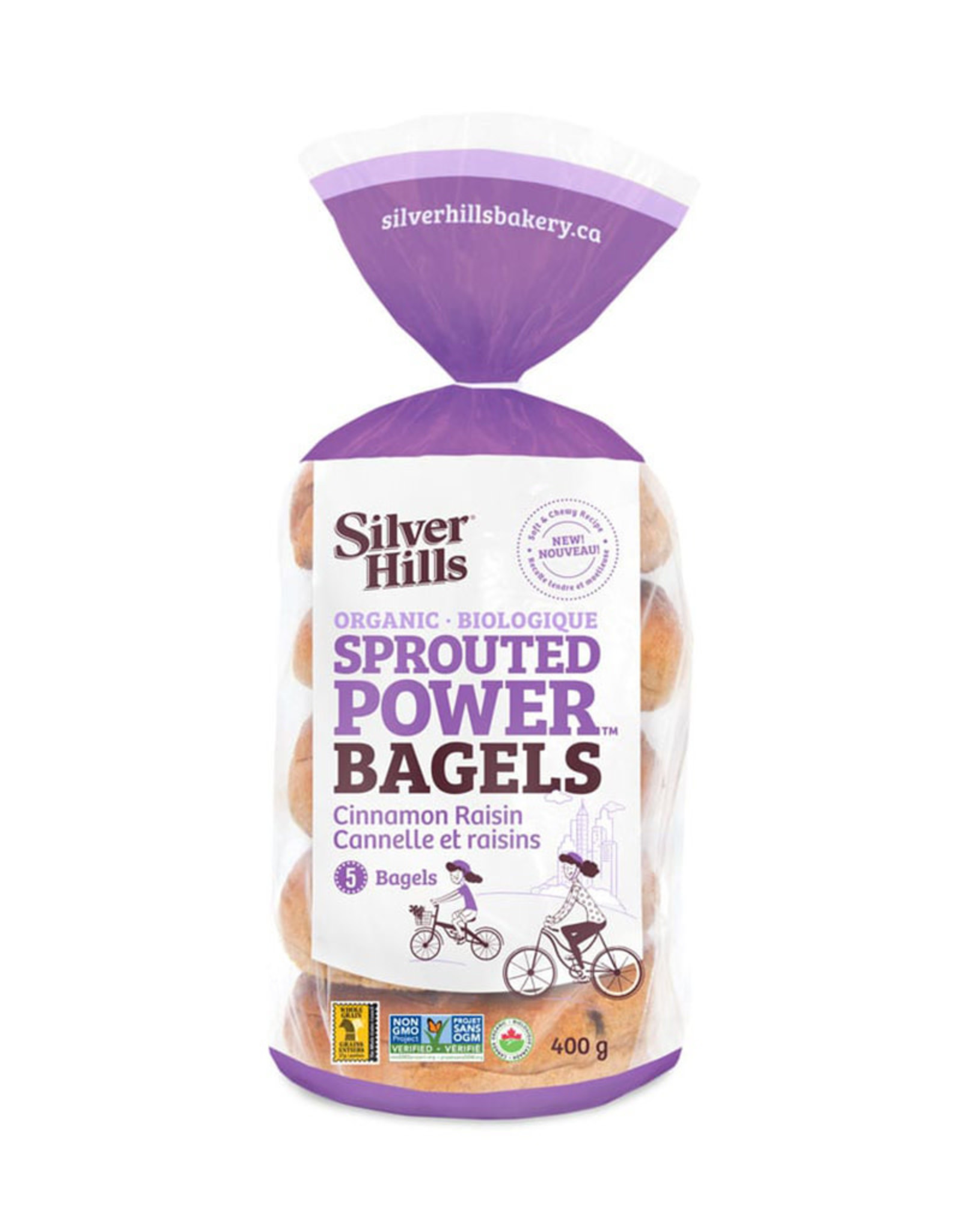 Silver Hills Bakery Silver Hills - Sprouted Bagels, Cinnamon Raisin