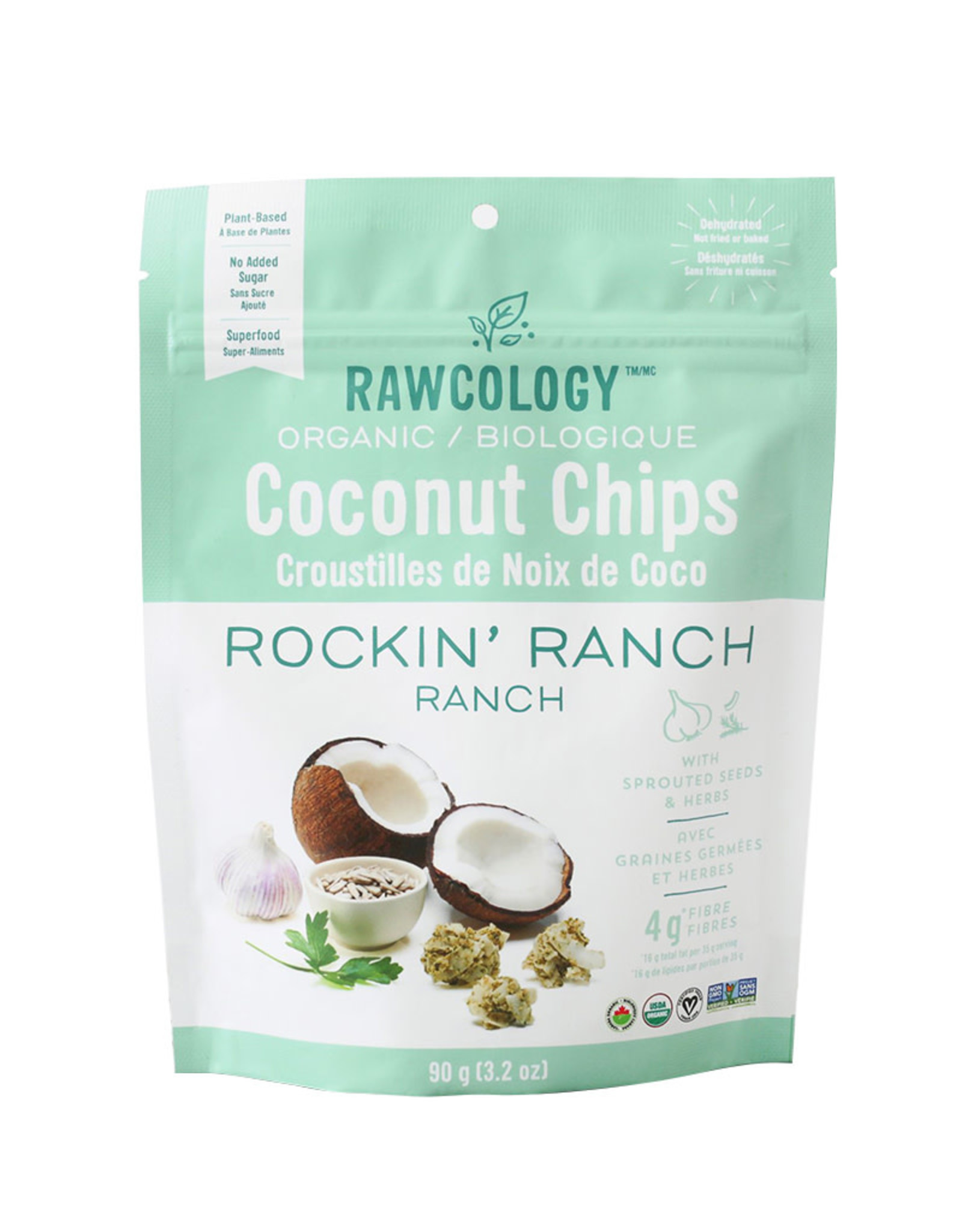 Rawcology Rawcology - Coconut Chips, Rockin Ranch (90g)