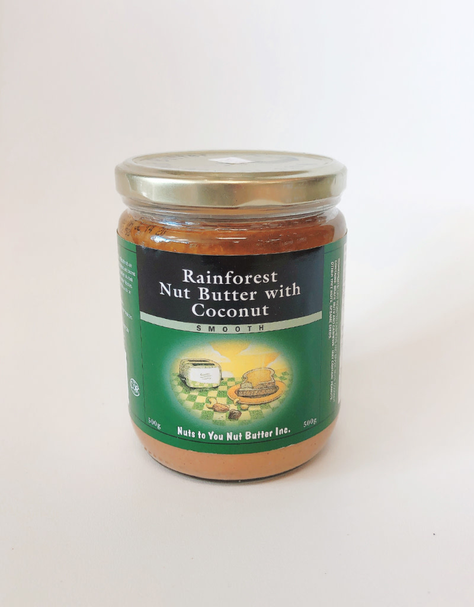 Nuts to You NTY - Rainforest Butter, Nut Butter with Coconut (500g)