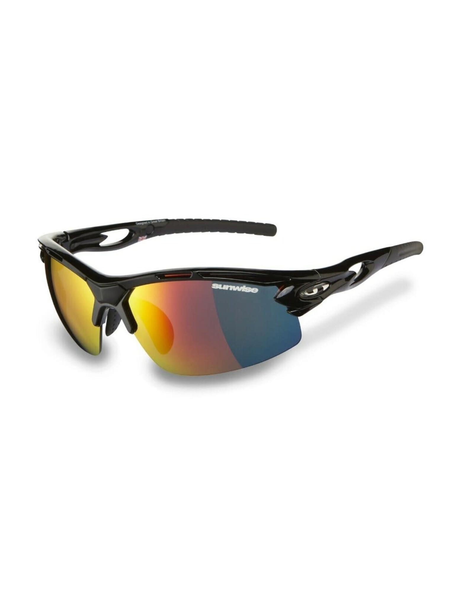 Sunwise Vertex Cycling Sunglasses w/interchangeable lenses BLACK
